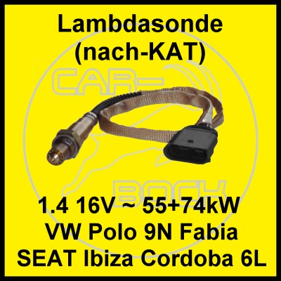 lambdasonde nach kat vw polo 9n seat ibiza 6l skoda. Black Bedroom Furniture Sets. Home Design Ideas
