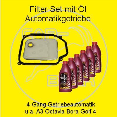 lsieb filter satz mit 6l l f r automatikgetriebe a3. Black Bedroom Furniture Sets. Home Design Ideas