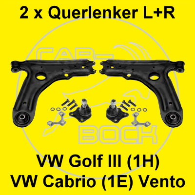 2 x querlenker dreieckslenker vw golf 3 iii cabrio vento. Black Bedroom Furniture Sets. Home Design Ideas