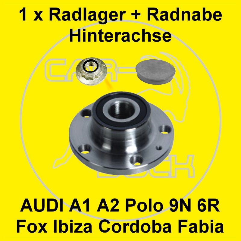 radnabe radlager hinten vw polo 9n seat ibiza 6l skoda. Black Bedroom Furniture Sets. Home Design Ideas