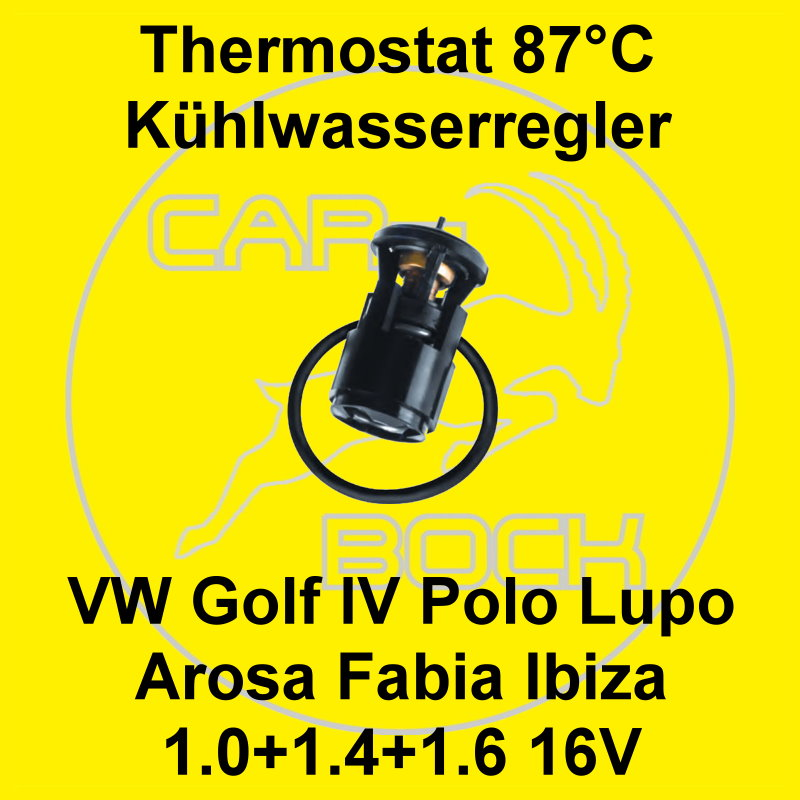 thermostat 1 0 1 4 1 6 16v 87 c vw golf 4 iv polo 6n 9n lupo fabia ibiza 6k 6l ebay. Black Bedroom Furniture Sets. Home Design Ideas