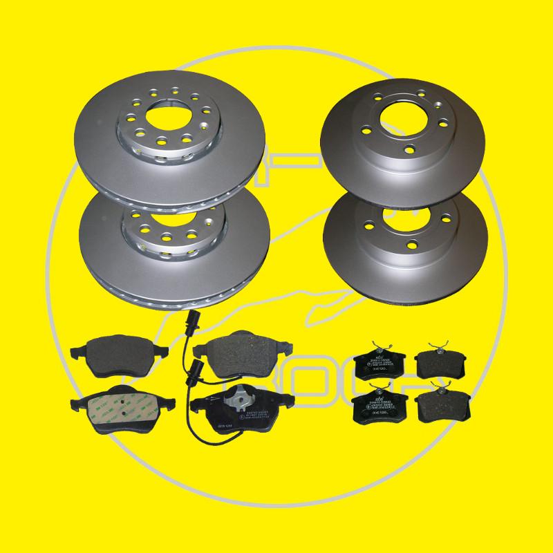 bremsen set vorn und hinten beschichtete bremsscheiben f r. Black Bedroom Furniture Sets. Home Design Ideas