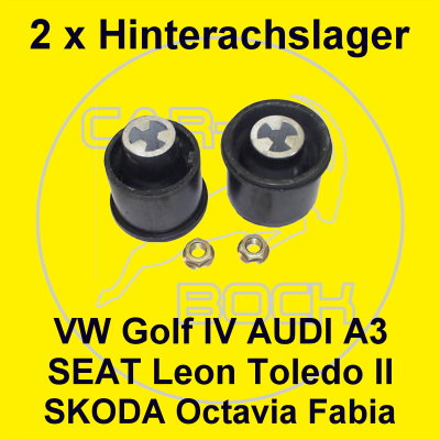 2 achslager hinten skoda octavia 1u fabia seat leon 1m. Black Bedroom Furniture Sets. Home Design Ideas