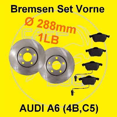bremse vorn audi a6 4b c5 bremsscheiben bremsbel ge ebay. Black Bedroom Furniture Sets. Home Design Ideas