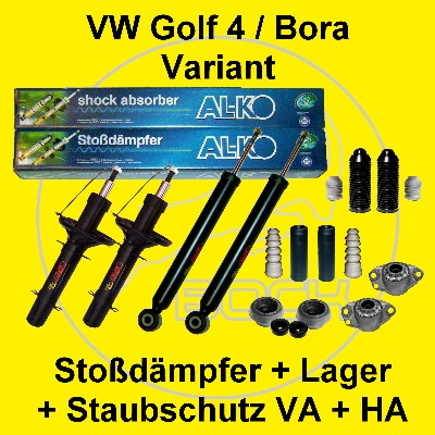 set sto d mpfer vorn hinten vw golf4 variant bora kombi ebay. Black Bedroom Furniture Sets. Home Design Ideas