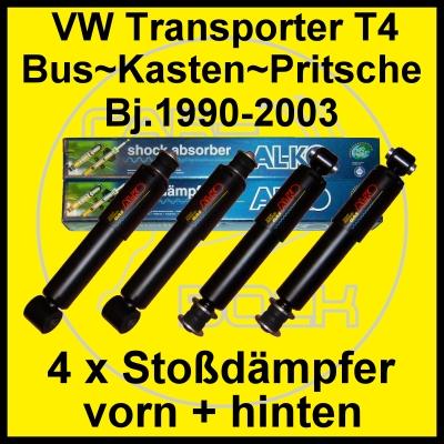 Stoßdämpfer vorn + hinten VW T4 Transporter Bus Multivan Caravelle