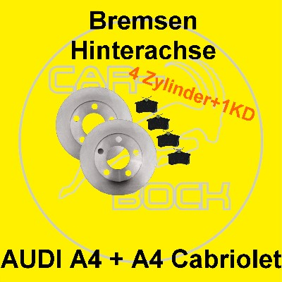 bremse hinten audi a4 8e a4 cabriolet 4 zylinder 1kd ebay. Black Bedroom Furniture Sets. Home Design Ideas