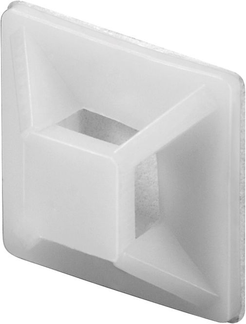100 stck klebesockel mit se zur befestigung eines kabelbinder bis 3 6mm. Black Bedroom Furniture Sets. Home Design Ideas