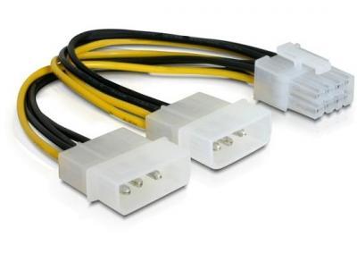 Strom-Adapter-PCIe-PCI-Express-8-pol-auf-2x-4pol-Molex