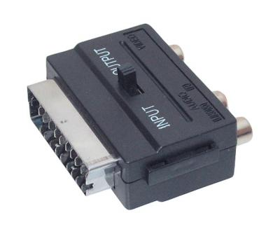 scart adapter umschaltbar input output cinch scart ebay. Black Bedroom Furniture Sets. Home Design Ideas