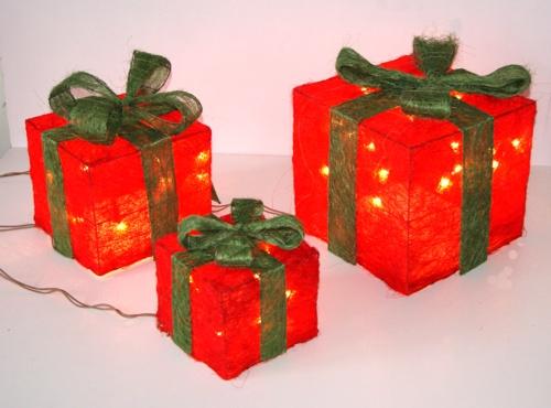 Beleuchtete geschenke weihnachtsdeko sisal weihnachten ebay for Weihnachtsdeko geschenke