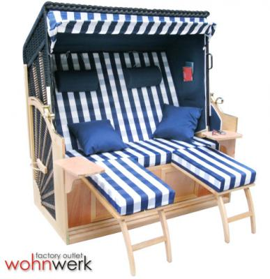 strandkorb r gen ii xxl neues modell hamburg blau ebay. Black Bedroom Furniture Sets. Home Design Ideas