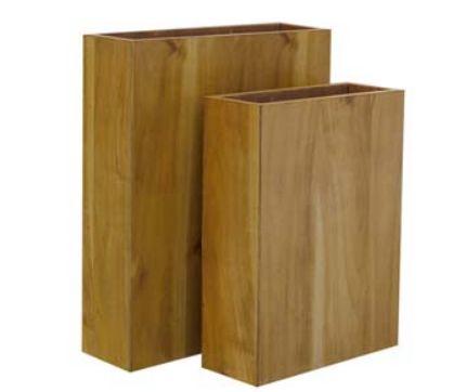teak holz 76veneer fiberglas k bel oder raumteiler ebay. Black Bedroom Furniture Sets. Home Design Ideas
