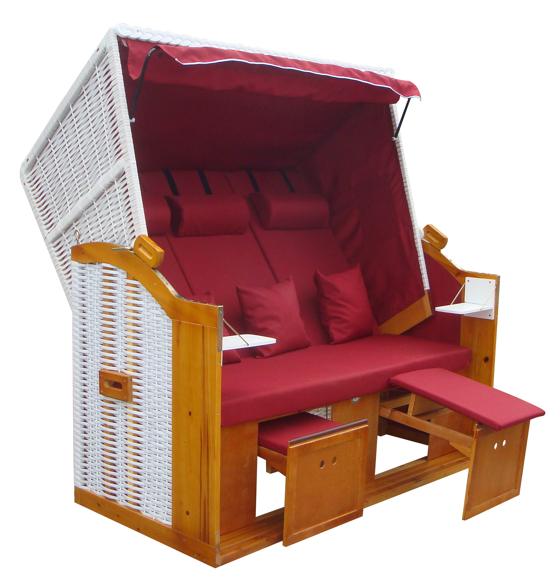 strandkorb ostsee de luxe trio xxl rot wbu 155cm breit 3 sitzer ebay. Black Bedroom Furniture Sets. Home Design Ideas