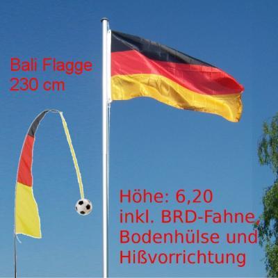 flaggenmast fahnenmast alu 6m brd flagge bali fahne 2012 230 cm ebay. Black Bedroom Furniture Sets. Home Design Ideas