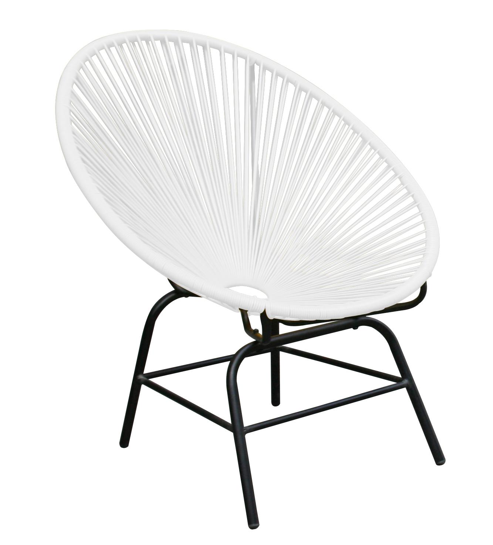 retro sessel acapulco f r innen und aussen weiss ebay. Black Bedroom Furniture Sets. Home Design Ideas