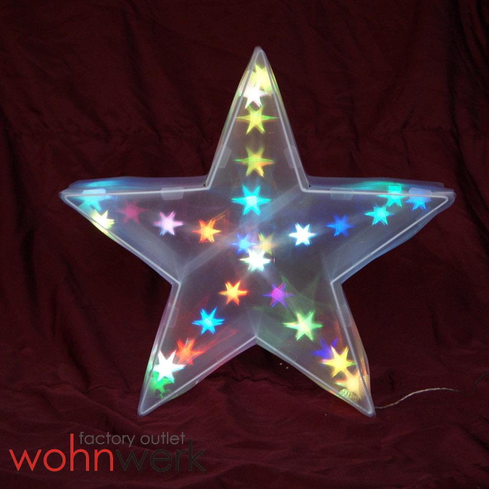 beleuchteter hologramm stern 30 led leucht stern 3d effekt. Black Bedroom Furniture Sets. Home Design Ideas