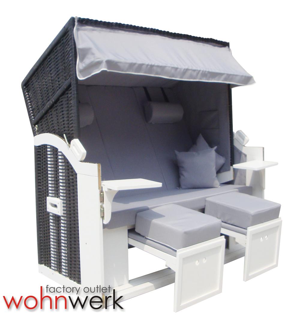 strandkorb ostsee de luxe xxl quattro 160cm breit ebay. Black Bedroom Furniture Sets. Home Design Ideas