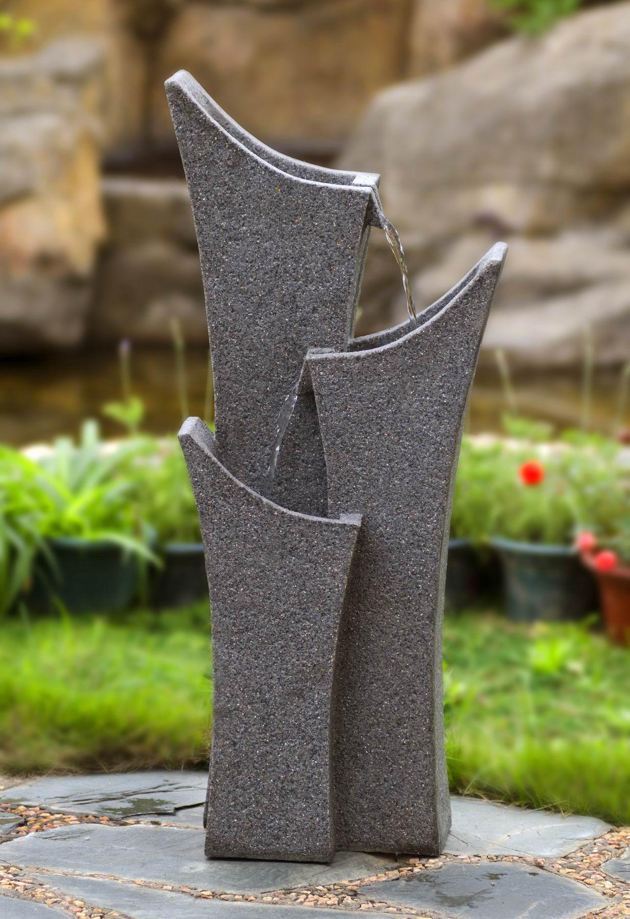 kaskaden brunnen wasserfont ne stufenbrunnen f r innen und aussen ebay. Black Bedroom Furniture Sets. Home Design Ideas