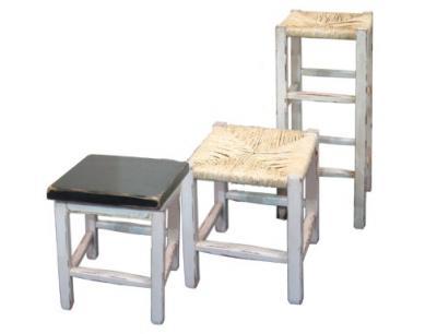 hocker im landhausstil in bast rattan oder holz ebay. Black Bedroom Furniture Sets. Home Design Ideas