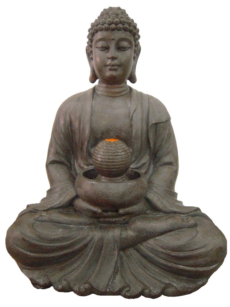 buddha brunnen mit led licht 84cm h he f r innen und. Black Bedroom Furniture Sets. Home Design Ideas