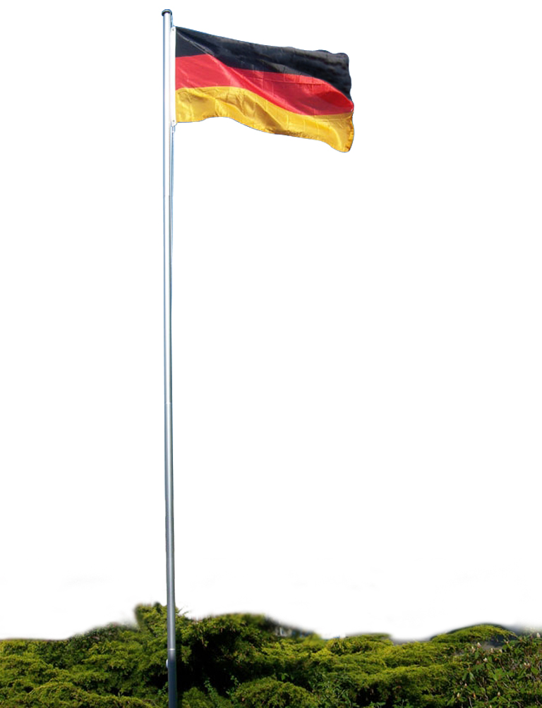 flaggenmast mit deutschlandfahne fahnenmast 4m ebay. Black Bedroom Furniture Sets. Home Design Ideas