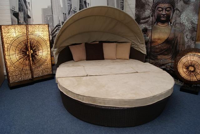 sonneninsel kuschel muschel aus polyrattan alcantara ebay. Black Bedroom Furniture Sets. Home Design Ideas