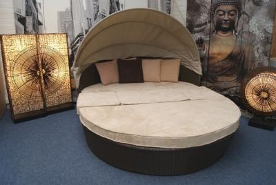 rattan sonneninsel kuschel muschel 224cm ebay. Black Bedroom Furniture Sets. Home Design Ideas