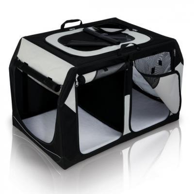39725-TRIXIE-Transportbox-Vario-Double-91-cm-Nylon-faltbar-Autobox-doppelt