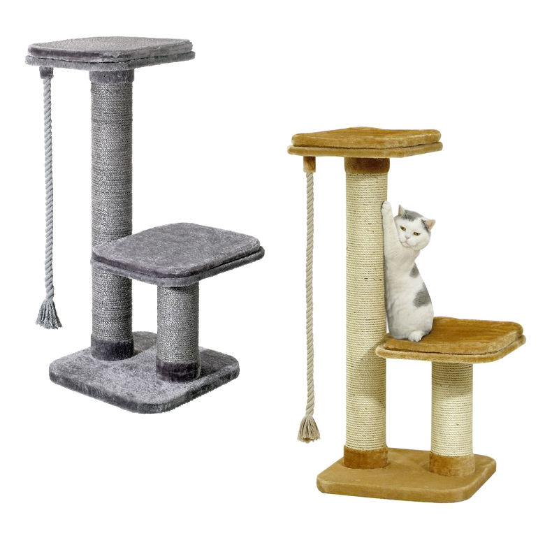 kratzbaum big cat xxl beige 122 cm hoch f r gro e katzen stamm 15 cm ebay. Black Bedroom Furniture Sets. Home Design Ideas
