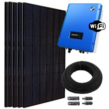 1 6 kw pv solar anlage samil wr mit wifi lg pv module. Black Bedroom Furniture Sets. Home Design Ideas