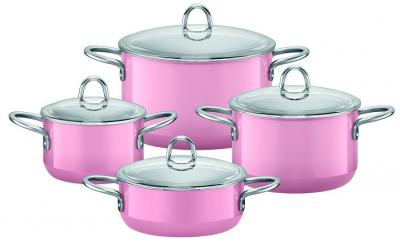 topf set rose pink 4 tlg topfset t pfe 1x bratentopf 3x fleischtopf silit ebay. Black Bedroom Furniture Sets. Home Design Ideas