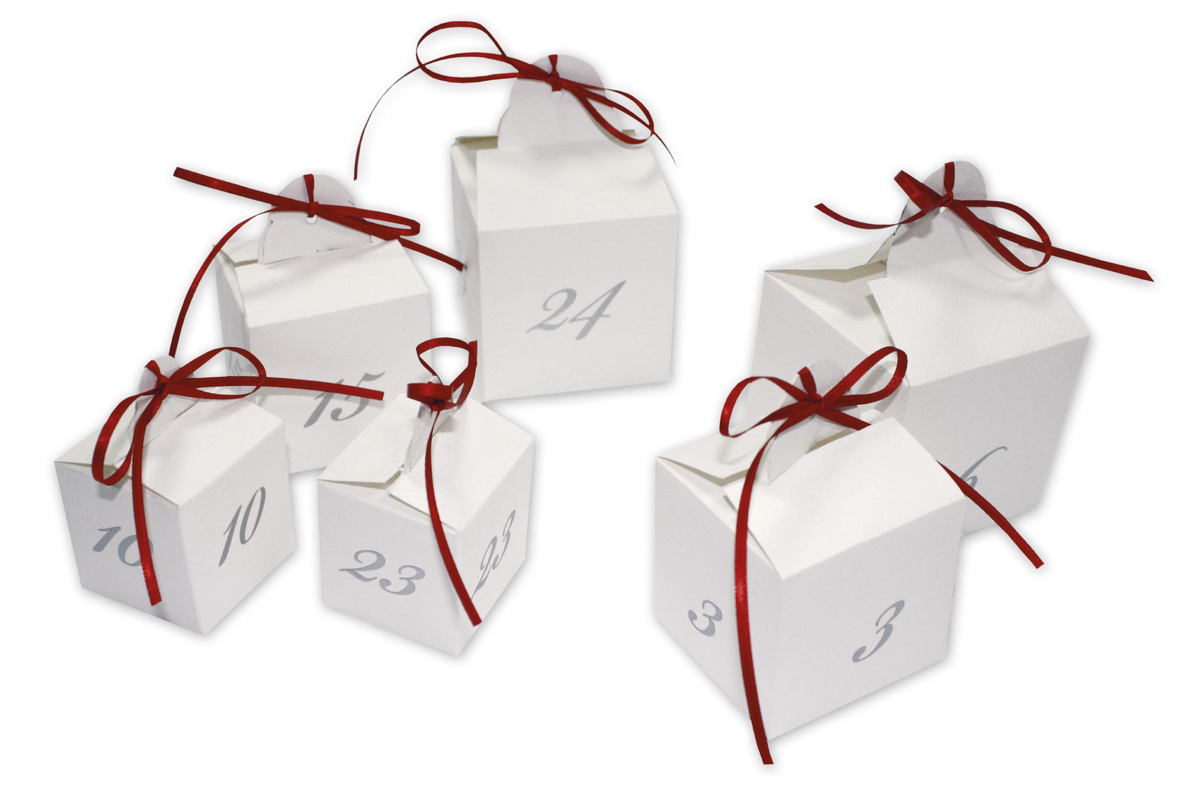 adventskalender weihnachtskalender 24 adventsw rfel zum selbst bef llen ebay. Black Bedroom Furniture Sets. Home Design Ideas