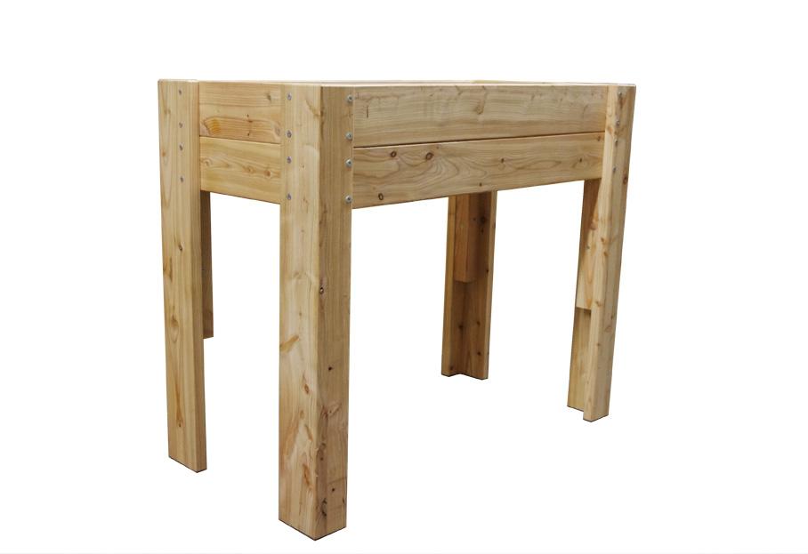 tischbeet hochbeet aus l rchenholz. Black Bedroom Furniture Sets. Home Design Ideas