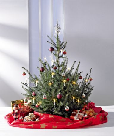 weihnachtsbaum deko decke und transportsack verschiedene farben ebay. Black Bedroom Furniture Sets. Home Design Ideas