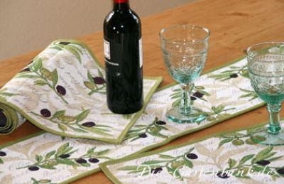sander gobelin tischl ufer oliven mediterran 32 x 96 cm olives ebay. Black Bedroom Furniture Sets. Home Design Ideas
