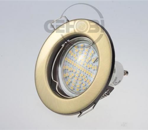 x-mal-54er-SMD-LED-GU10-4003-6-Altmessing-Einbaustrahler-Set-230V-Fassung-Stra