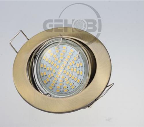 x-mal-54er-SMD-LED-GU10-4035-6-Altmessing-Einbaustrahler-Set-230V-Fassung-Stra