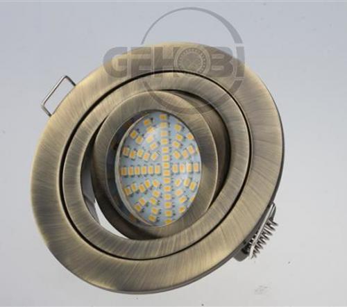 x-mal-54er-SMD-LED-GU10-4036-6-Altmessing-Einbaustrahler-Set-230V-Fassung-Stra