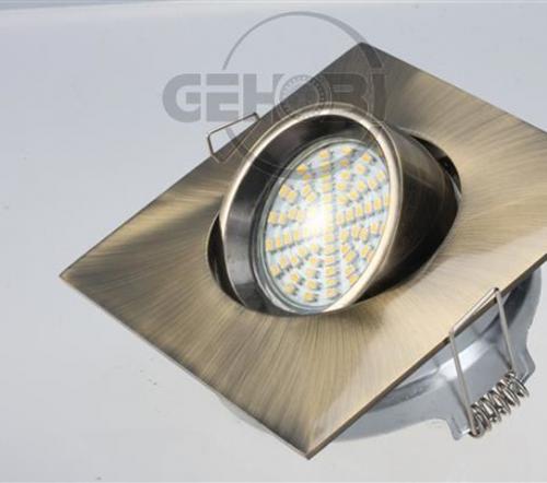 x-mal-54er-SMD-LED-GU10-4087-6-Altmessing-Einbaustrahler-Set-230V-Fassung-Stra