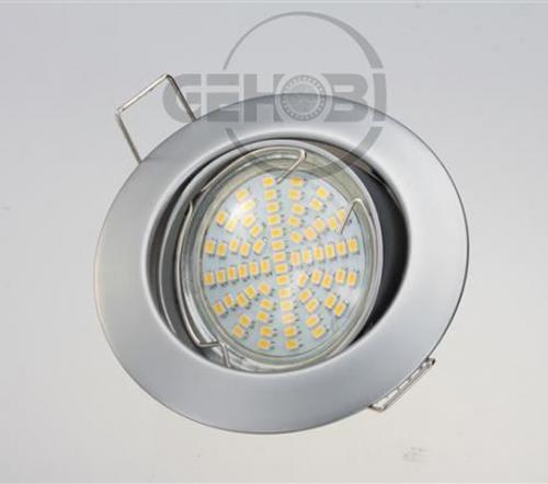 x-mal-54er-SMD-LED-GU10-4035-9-Chrom-matt-Einbaustrahler-Set-230V-Fassung-Stra