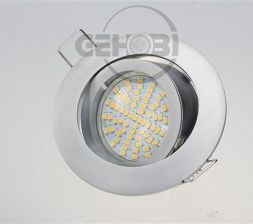 x-mal-54er-SMD-LED-GU10-4037-9-Chrom-matt-Einbaustrahler-Set-230V-Fassung-Stra