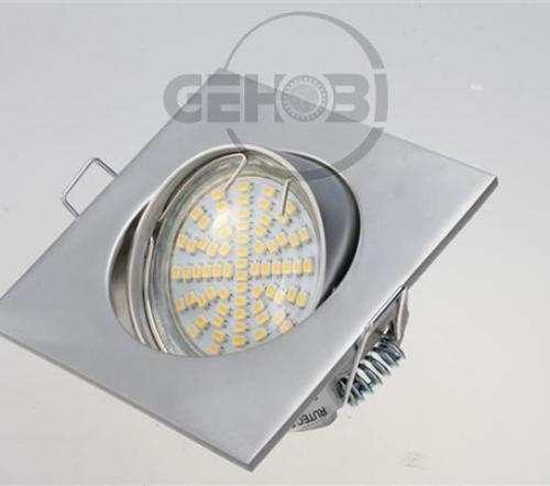 x-mal-54er-SMD-LED-GU10-4039-9-Chrom-matt-Einbaustrahler-Set-230V-Fassung-Stra
