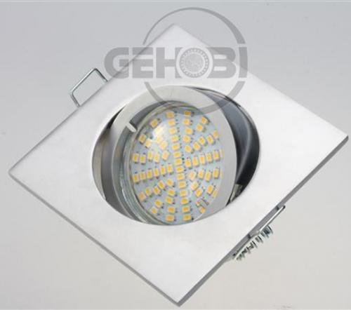 x-mal-54er-SMD-LED-GU10-4047-9-Chrom-matt-Einbaustrahler-Set-230V-Fassung-Stra