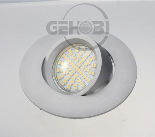 x-mal-54er-SMD-LED-GU10-4086-9-Chrom-matt-Einbaustrahler-Set-230V-Fassung-Stra