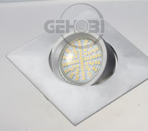 x-mal-54er-SMD-LED-GU10-4087-9-Chrom-matt-Einbaustrahler-Set-230V-Fassung-Stra