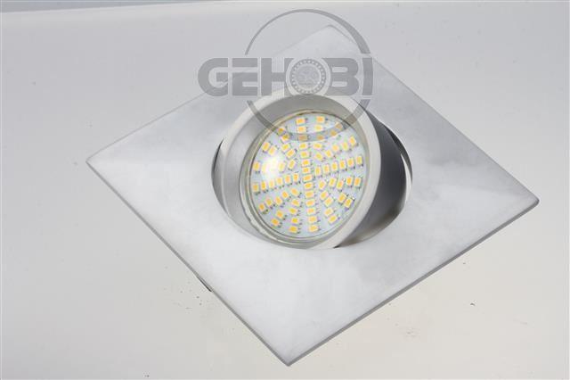 x-mal-70er-SMD-LED-GU10-4087-9-Chrom-matt-Einbaustrahler-Set-230V-Fassung-Stra