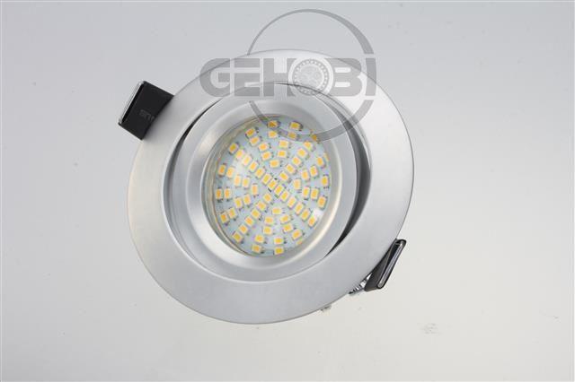 x-mal-70er-SMD-LED-GU10-5548-9-Chrom-matt-Einbaustrahler-Set-230V-Fassung-Stra