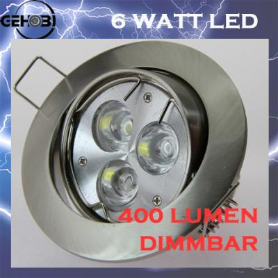 x mal power led einbaustrahler einbauleuchten set 230v dimmbar 7w 40w halogen ebay. Black Bedroom Furniture Sets. Home Design Ideas