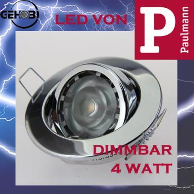 4 watt led paulmann dimmbar gu10 4011 4 chrom set. Black Bedroom Furniture Sets. Home Design Ideas